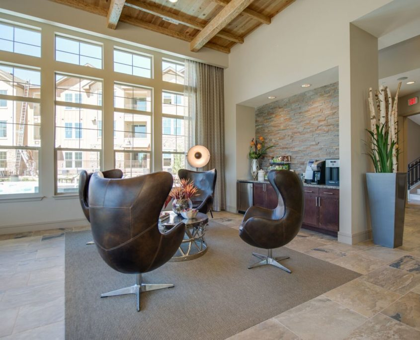 Kathy Andrews Interiors Multifamily Leasing and Amenity Center Bell Ken-Caryl Meeting Space