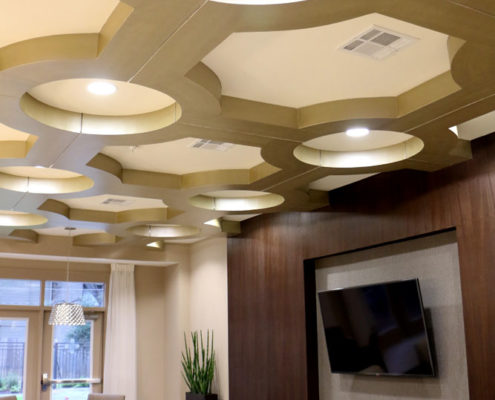 Multifamily Interior Design Kathy Andrews Interiors Interior Architecture Ceiling and Wall Details 2