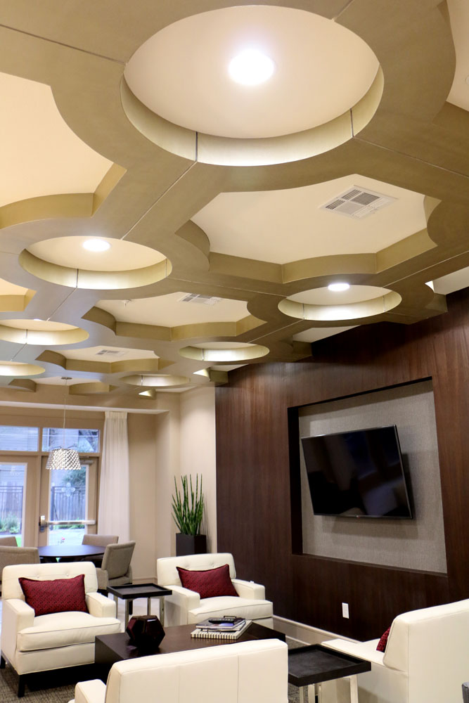 ... Multifamily Interior Design Kathy Andrews Interiors Interior  Architecture Ceiling And Wall Details 2 ...