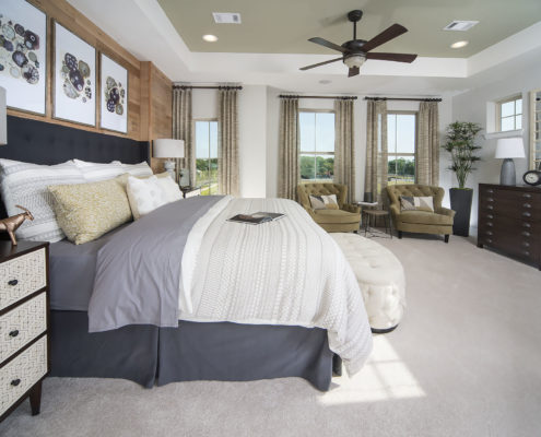 Kathy Andrews Interiors David Weekley Homes Parkside at Trinity Green Lambert 8673 Dallas TX Bedroom