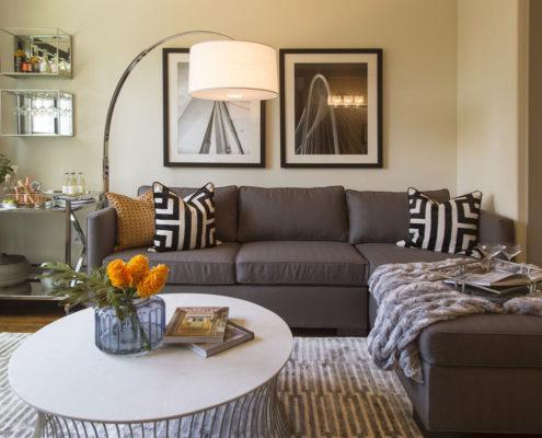 Kathy Andrews Interiors Alexan 5151 Multifamily Model Living Area 3
