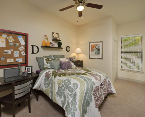 Kathy Andrews Interiors Asset Plus Student Housing Model 25Twenty Lubbock TX 2B Bedroom 2