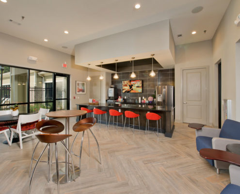 Kathy Andrews Interiors Asset Plus Student Housing The Domain at Oxford MS clubroom 3