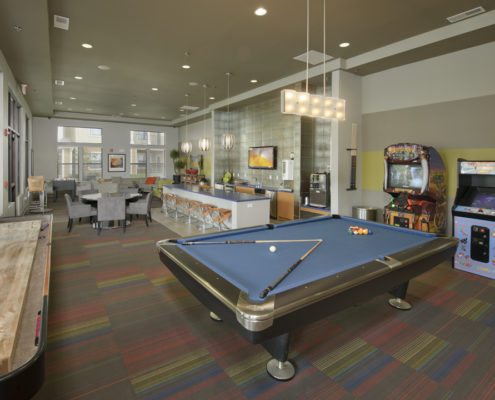 Kathy Andrews Interiors Asset Plus Student Housing Leasing and Amenity Center WVU Morgantown West Virginia Clubroom 1 lo-res