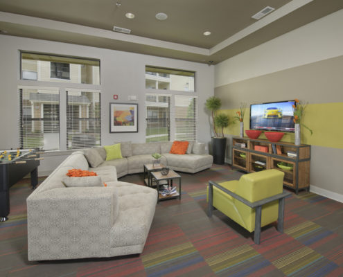 Kathy Andrews Interiors Asset Plus Student Housing Leasing and Amenity Center WVU Morgantown West Virginia Clubroom lo-res
