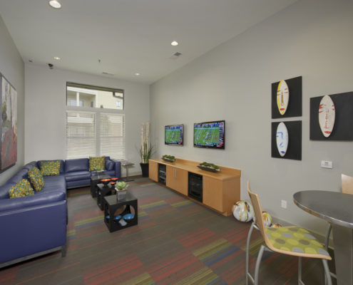 Kathy Andrews Interiors Asset Plus Student Housing Leasing and Amenity Center WVU Morgantown West Virginia Game lo-res
