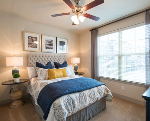Kathy Andrews Interiors Asset Plus Companies The Arrabella Houston TX Multifamily Model Bedroom 2