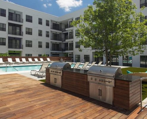Multifamily Interior Design Kathy Andrews Interiors Multifamily The Corazon grilling deck