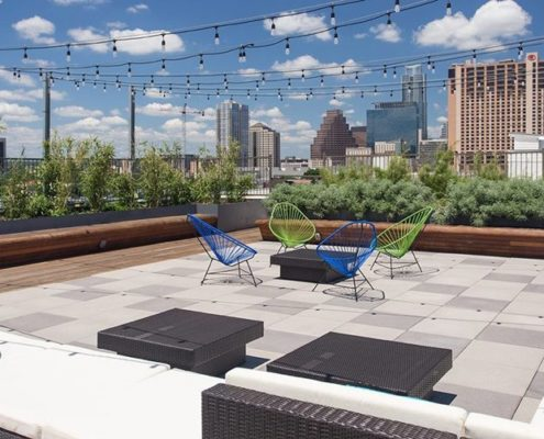 Multifamily Interior Design Kathy Andrews Interiors Multifamily The Corazon rooftop lounge