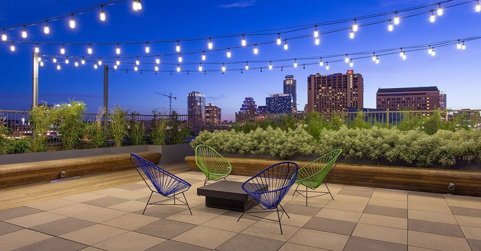 Multifamily Interior Design Kathy Andrews Interiors Multifamily The Corazon rooftop