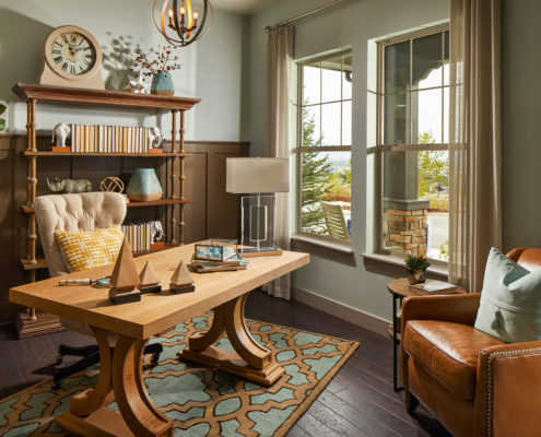 Kathy Andrews Interiors David Weekley Homes Deer Run Pennfield Model 6435 Draper UT Study