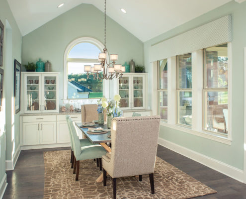 Kathy Andrews Interiors David Weekley Homes Montclair Honeycutt 5608 Wendell NC Dining