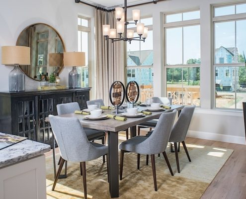 Kathy Andrews Interiors David Weekley Homes Parkside at Trinity Green Lambert 8673 Dallas TX Dining
