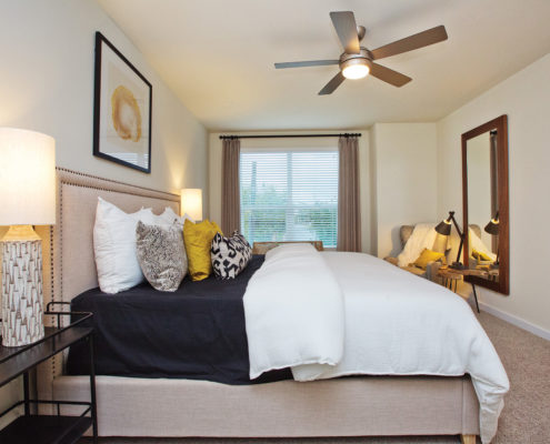 Kathy Andrews Interiors David Weekley Homes Villas at Roanoke Westworth 8677 San Antonio, TX Bedroom 2