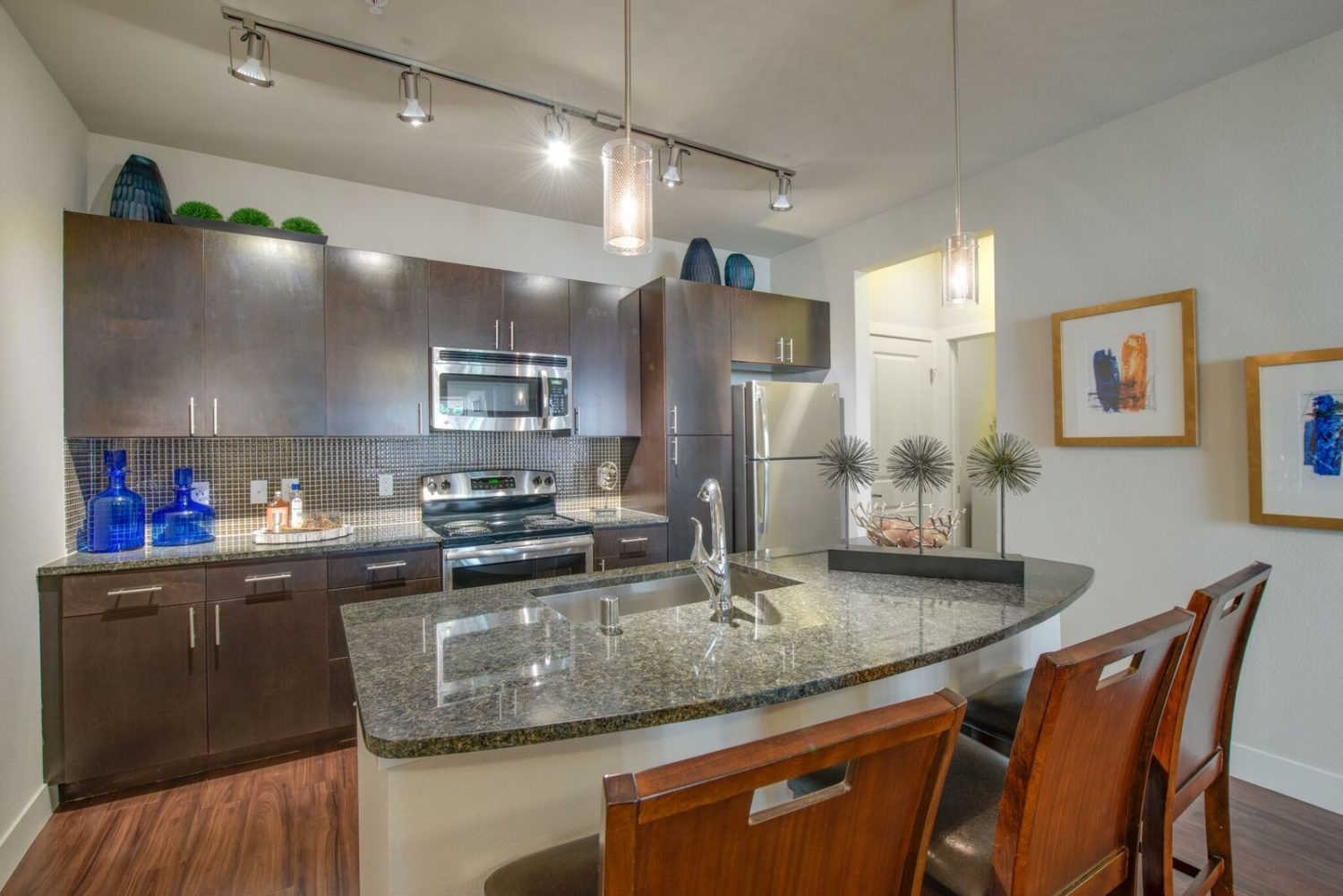 Kathy Andrews Interiors Bell Ken-Caryl Multifamily Model Kitchen