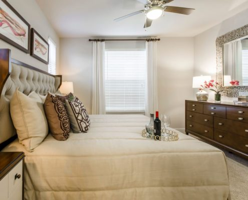 Kathy Andrews Interiors Grand at the Dominion Multifamily Model Bedroom 2