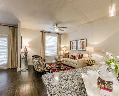 Kathy Andrews Interiors Grand at the Dominion Multifamily Model Living 3