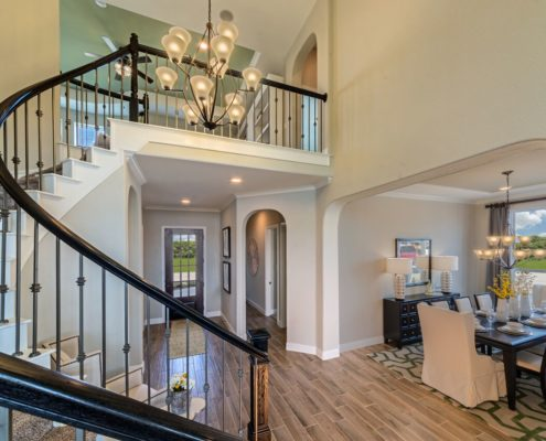 Kathy Andrews Interiors Landon Homes Lexington Country Heritage Series 432 Frisco Texas Stairway