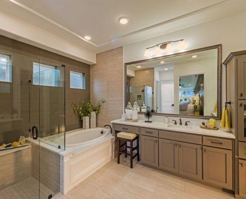 Kathy Andrews Interiors Landon Homes Lexington Country Heritage Series 432 Frisco Texas Master Bath