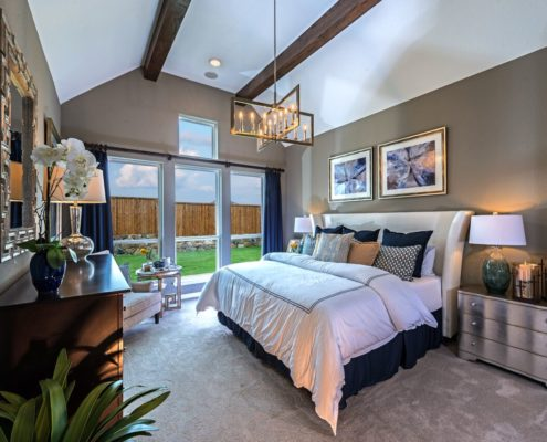 Kathy Andrews Interiors Landon Homes Lexington Country Impression Series 4655 Frisco Texas Master Bed 2