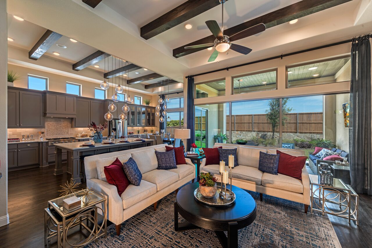 Kathy Andrews Interiors Landon Homes Lexington John R Landon Executive Series 785 Frisco Texas Living area