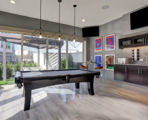 Kathy Andrews Interiors Multifamily The Reserve at Washington Billiards