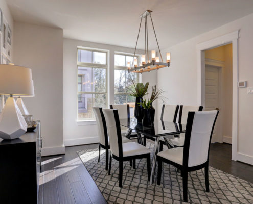 Kathy Andrews Interiors Multifamily The Reserve at Washington Dining