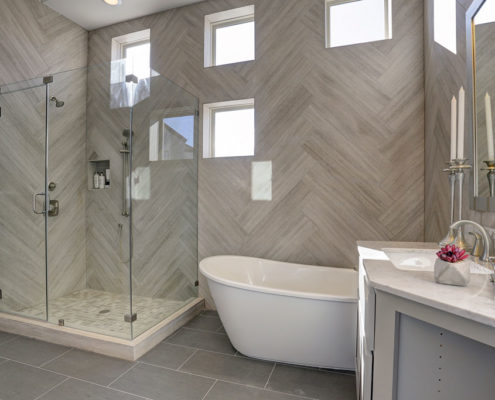 Kathy Andrews Interiors Multifamily The Reserve at Washington Master Bath