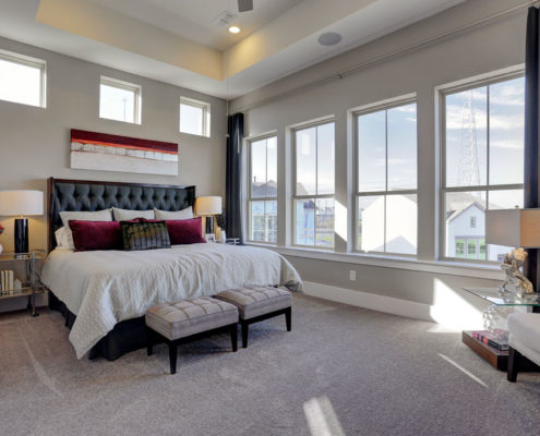 Kathy Andrews Interiors Multifamily The Reserve at Washington Master Bed