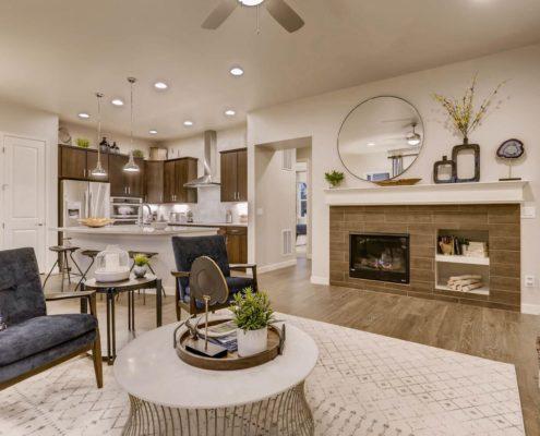 Kathy Andrews Interiors Richfield Homes Summer Hawk at Fox Meadow Longmont CO Kitchen