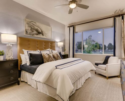 Kathy Andrews Interiors Richfield Homes Summer Hawk at Fox Meadow Longmont CO Master Bed