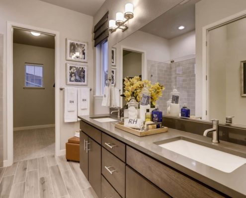 Kathy Andrews Interiors Richfield Homes Summer Hawk at Fox Meadow Longmont CO Master Bath