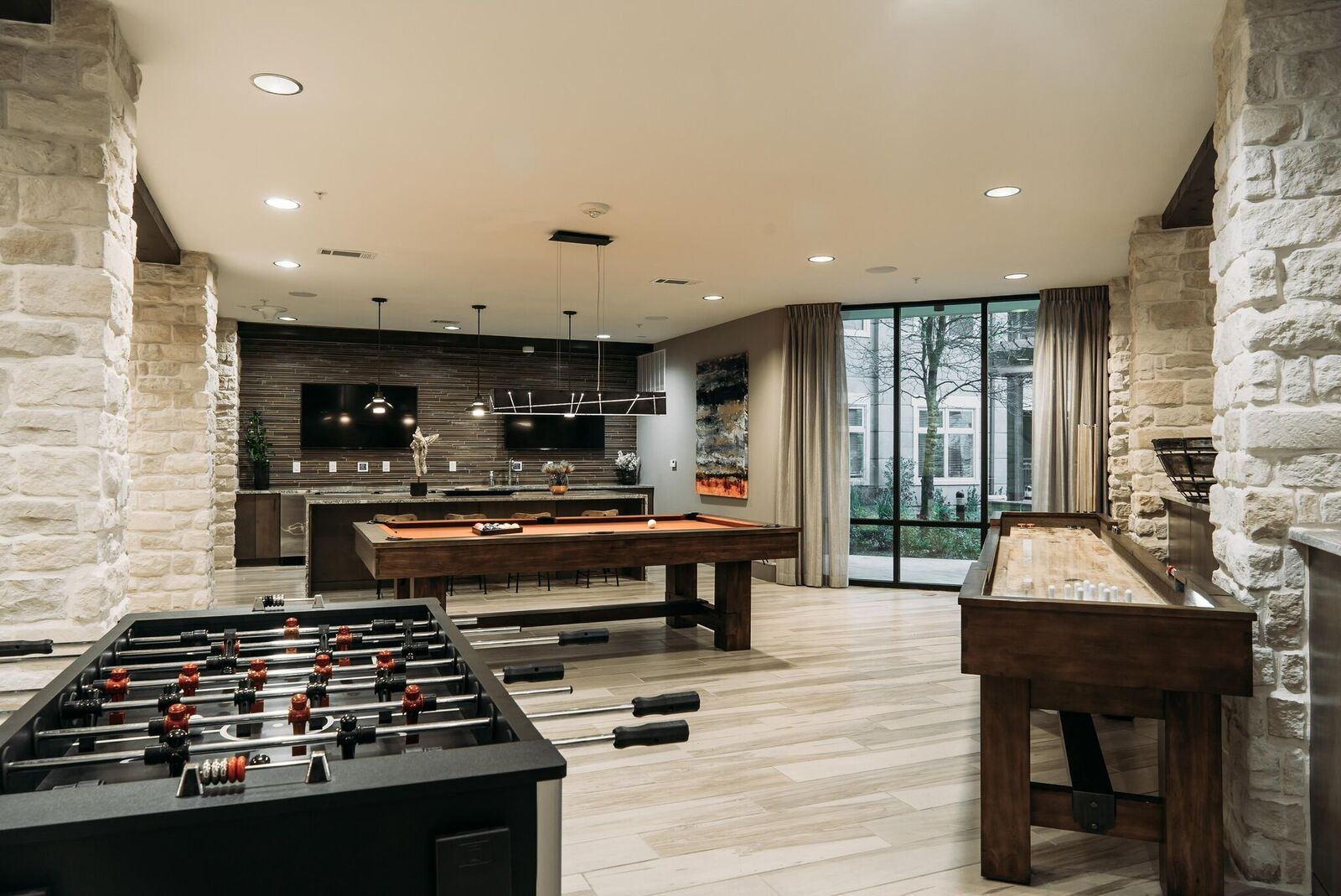 Kathy Andrews Interiors Ridgeline At Rogers Ranch Multifamily Leasing And  Amenity Center Game Room 2