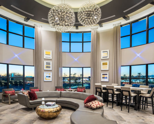 Kathy Andrews Interiors The Core Scottsdale Multifamily Leasing and Amenity Center Lobby 12
