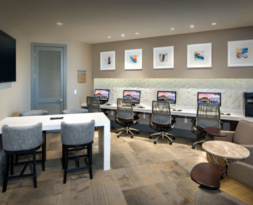 Kathy Andrews Interiors The Core Scottsdale Multifamily Leasing and Amenity Center Business Center