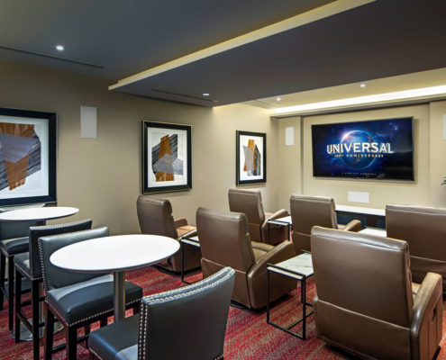 Kathy Andrews Interiors The Core Scottsdale Multifamily Leasing and Amenity Center Theater
