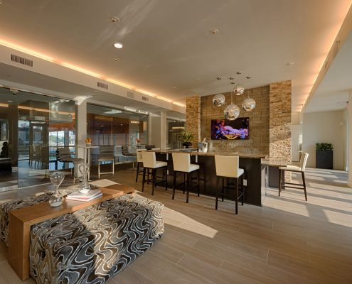 Kathy Andrew Interiors Multifamily Interior Design Leasing and Amenity Center Alexan CityCentre Lobby 4