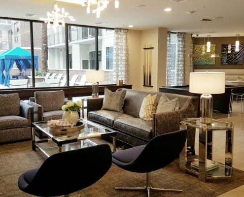 Kathy Andrew Interiors Multifamily Interior Design Leasing and Amenity Center Broadstone Skyline Lobby