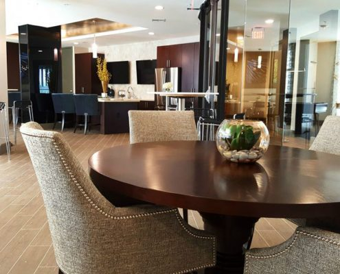 Kathy Andrew Interiors Multifamily Interior Design Leasing and Amenity Center Broadstone Skyline Lobby 5