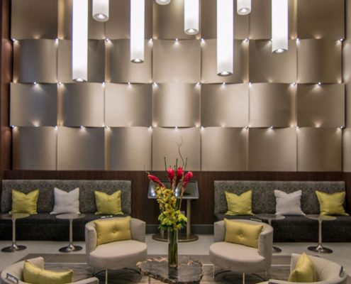 Kathy Andrew Interiors Multifamily Interior Design Leasing and Amenity Center Pearl CityCentre Lobby