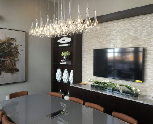 Kathy Andrew Interiors Multifamily Interior Design Leasing and Amenity Center Pearl Residences at CityCentre Conference Room