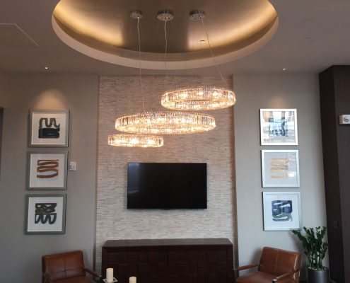 Kathy Andrew Interiors Multifamily Interior Design Leasing and Amenity Center Pearl Residences at CityCentre Lobby