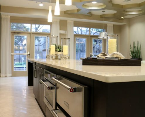 Kathy Andrew Interiors Multifamily Interior Design Leasing and Amenity Center Pearl Woodlake Lobby (2)