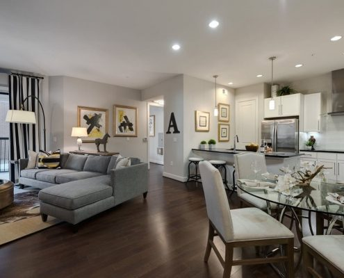 Kathy Andrews Interiors Multifamily Interior Design Model Unit Ascent at CityCentre13