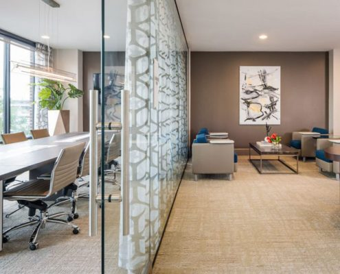 Kathy Andrew Interiors Multifamily Interior Design Leasing and Amenity Center Broadstone Skyline Lobby cropped