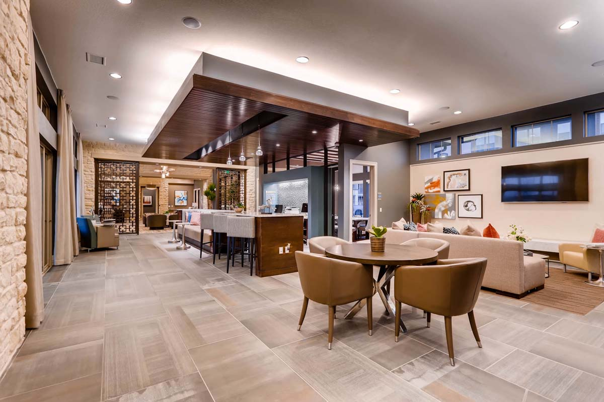 Kathy Andrews Interiors Multifamily Interior Design Leasing and Amenity Centers Touchstone Clubhouse