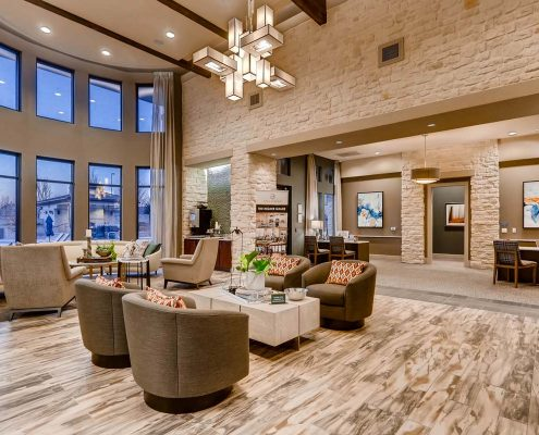 Kathy Andrews Interiors Multifamily Interior Design Leasing and Amenity Centers Touchstone Lobby