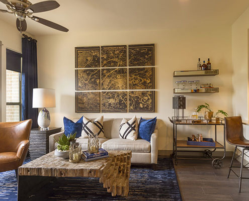 Kathy Andrews Interiors Multifamily Interior Design Model Unit Alexan CityCentre cropped