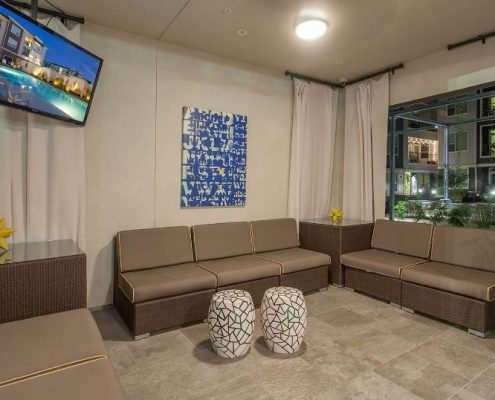 Kathy Andrews Interiors Multifamily Interior Design Outdoor Living Cabana Lounge