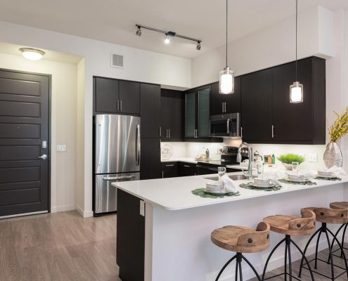 Kathy Andrew Interiors Multifamily Interior Design Model Units Millennium Rainey Street 4